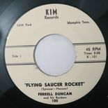 "45Re ✦FERRELL DUNCAN✦ ""Flying Saucer Rocket / Little Susie"" Great Guitar Instro♫"